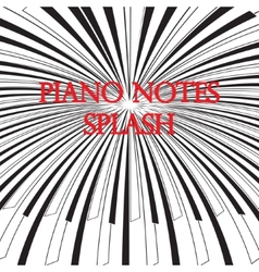 Piano keys splash vector