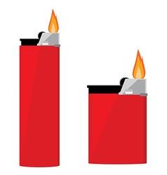 Red pocket lighter vector