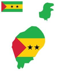 Sao Tome and Principe Flag vector image vector image
