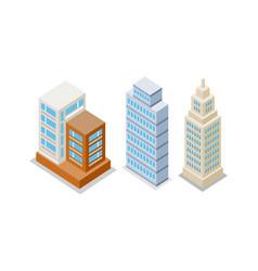 set of modern apartment buildings vector image vector image