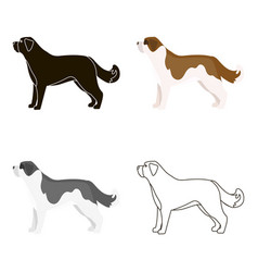 st bernard dog icon in cartoon style for vector image