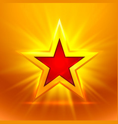 star gold on the golden background vector image vector image