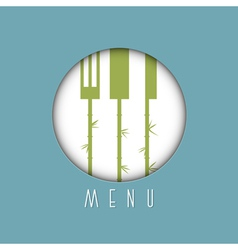 Stylish restaurant menu design in asian style vector