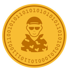 Swat soldier digital coin vector