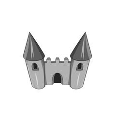 Toy castle icon black monochrome style vector image vector image