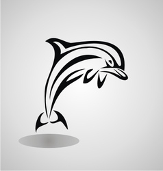 Tribal dolphin vector