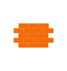 Wall of bricks icon cartoon style vector image vector image