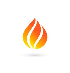 Water drop fire logo design template icon may be vector