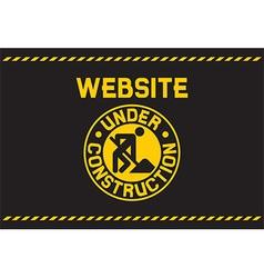 Website Under Construction Poster vector image