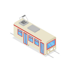 white trolley isolated isometric 3d icon vector image