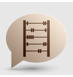 Retro abacus sign brown gradient icon on bubble vector