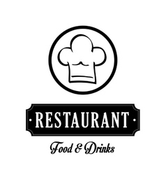 Restaurant and chefs hat design vector