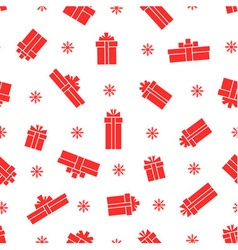 Seamless gift box pattern vector