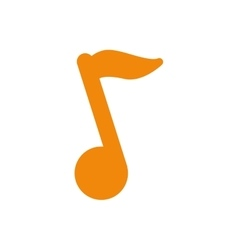 Isolated music note vector