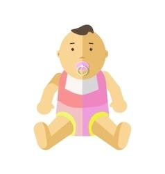 Cute little baby 0-12 months vector