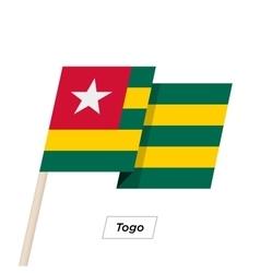 Togo ribbon waving flag isolated on white vector