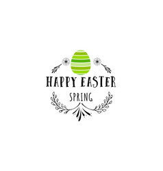 Typographic badges - happy easter on the basis of vector