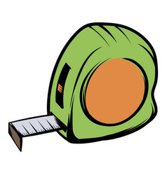Tape measure icon cartoon vector
