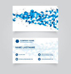 Business namecard abstract blue geometric vector