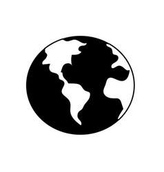 Contour global earth plenet with geography vector