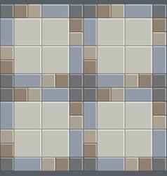 3d clay brick pattern floor vector image