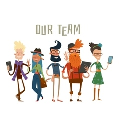 Business team people group portrait website vector