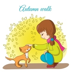 Autumn walk vector