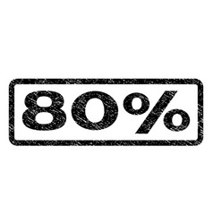 80 percent watermark stamp vector image