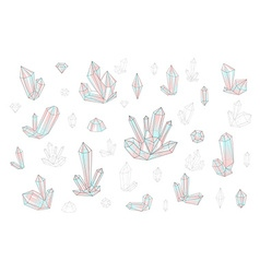 Set 18 fashion brightly colored diamonds hipster vector