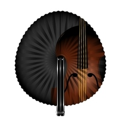 Fan and music vector