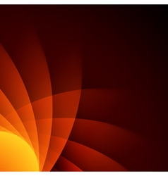 Orange smooth lines background vector image