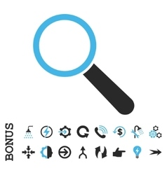Search tool flat icon with bonus vector