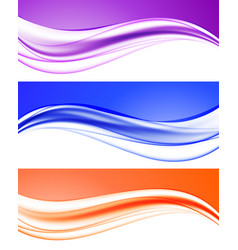 Abstract elegant light waves collection vector