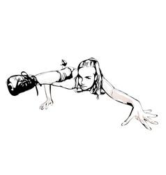 Aerobics pose vector