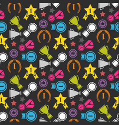 Award pattern seamless vector