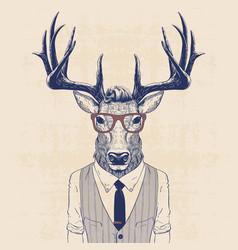 business deer vector image vector image