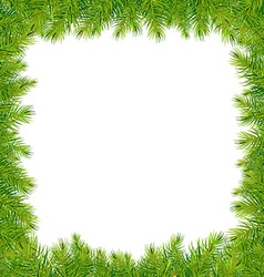 Christmas Fir Tree Frame vector image vector image