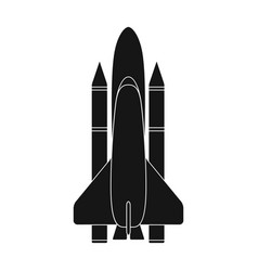 delivery of the space shuttlespace technology vector image