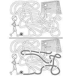 Football maze vector image vector image