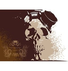 Grunge skull background vector