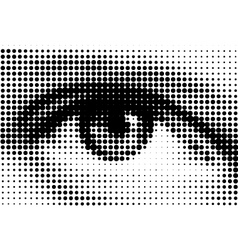 Halftone eye illustration vector