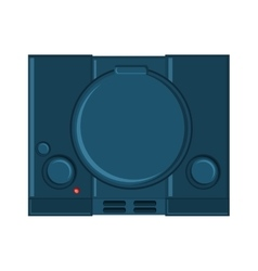 Isolated videogame console design vector