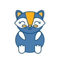 Kawaii raccoon icon vector