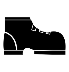 Men winter boot icon simple style vector