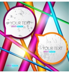 modern speech bubbles on bright background vector image