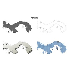 Panama outline map set vector image vector image