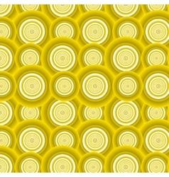 Pattern of yellow circles vector image vector image