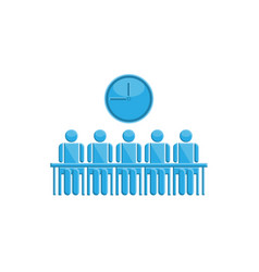 people in meeting time symbol vector image vector image