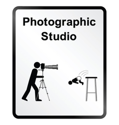 Photographic Studio Information Sign vector image vector image