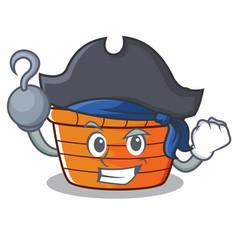 Pirate fruit basket character cartoon vector